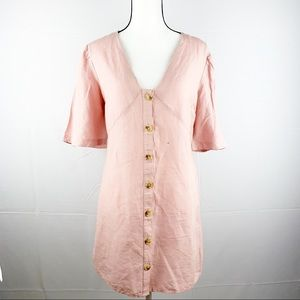 TOPSHOP | Light Pink Buttons Down Mini Dress
